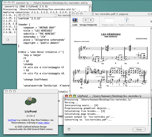 Lilypond is probably the best free music notator and can face