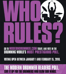 modern drummer readers poll 2010