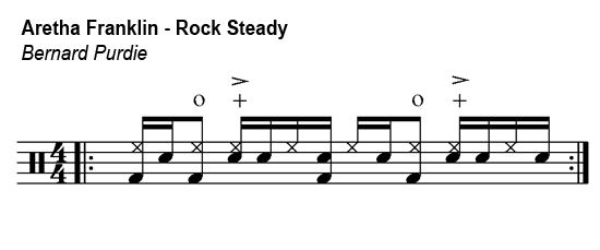 Aretha Franklin - Rock Steady - drum groove
