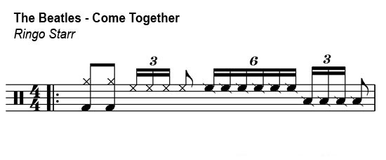 The Beatles - Come Together drum groove